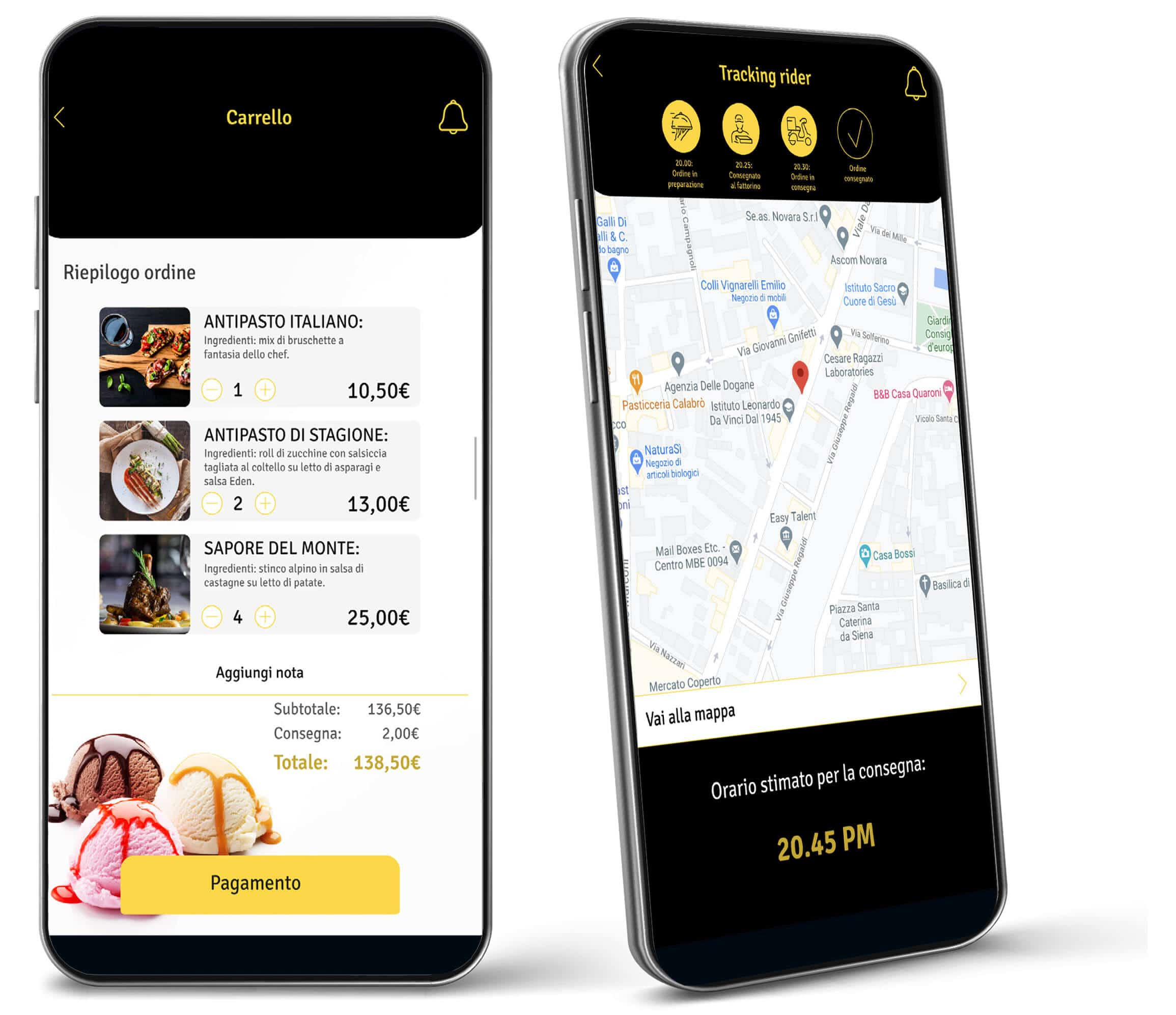 sviluppo app food delivery