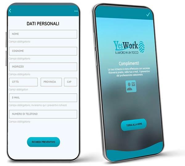 Yes Work App nativa sul lavvoro