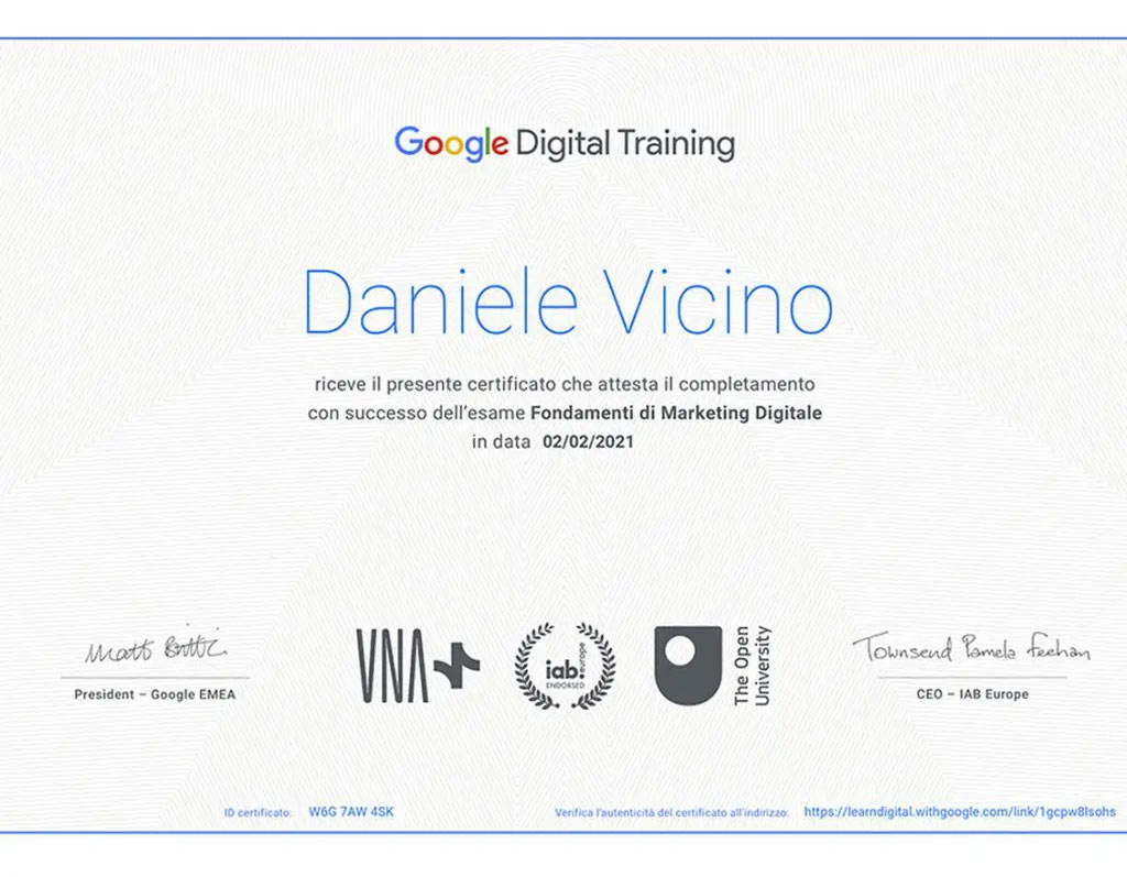 Certificazione Google Res Media