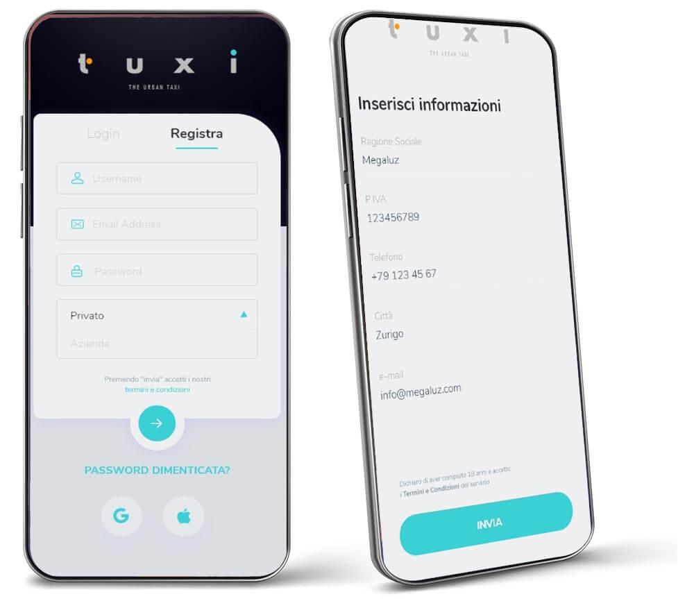 sviluppo app taxi